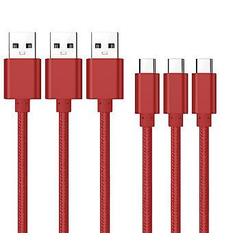 Kit Me Out USB Tipo C Cable, 3.1 Amp USB C Cable trenzado de nylon de carga rápida Compatible con LG G8 ThinQ, cable de cable de sincronización de datos de carga
