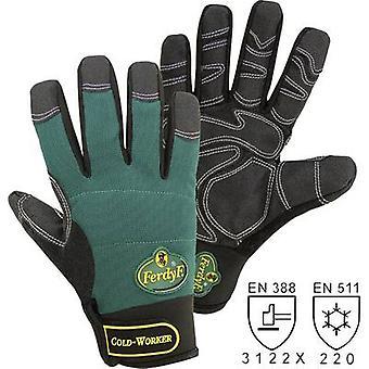 FerdyF. Mechanics COLD WORKER 1990 Clarino faux leather Work glove Size (gloves): 9, L EN 388:2016, EN 511:2016 CAT II 1 pair