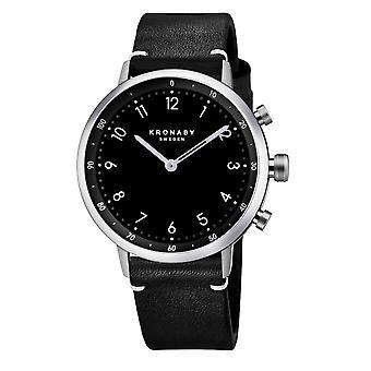 Kronaby S3126-1 Men's Nord Smartwatch Black Strap
