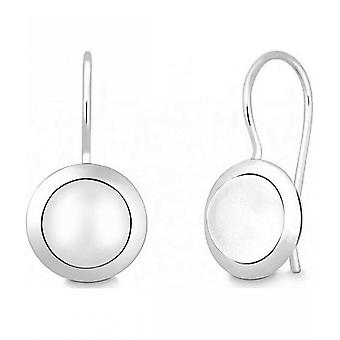 Quinn - Silver earrings with moonstone - 03583999