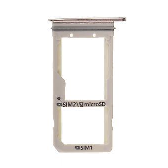 Voor de Samsung Galaxy S7 Edge-SM G935 - SIM-kaarthouder - blauw koraal