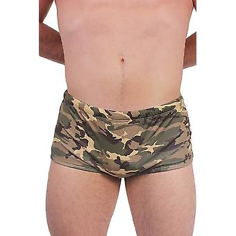 Heren ' s Army Green camoflage zwemslips