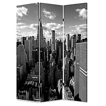 "1"" x 48"" x 72"" Multi Color Wood Canvas New York Skyline  Screen"