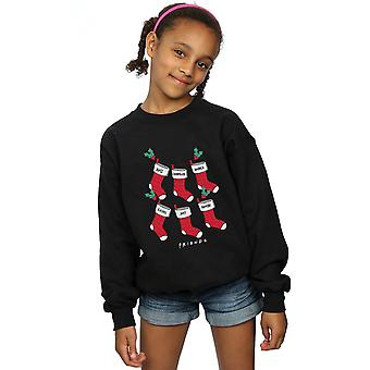 Friends Girls Christmas Stockings Sweatshirt