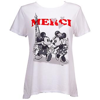 Mickey and Minnie Paris Juniors Fitted T-Shirt