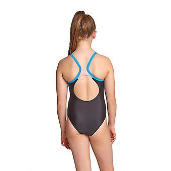Zoggs Kerrawa Girl's Strikeback One Pieces Badeanzug schwarz mit dünnen Riemen
