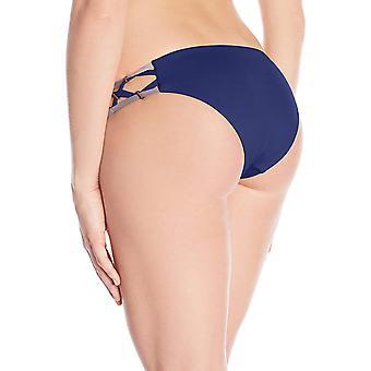 Dolce Vita Women's Solid Bikini Bottom with Beaded Side, Dusk, S