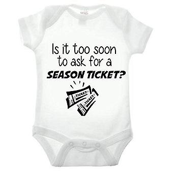 Is it too soon to ask for a season ticket short sleeve babygrow