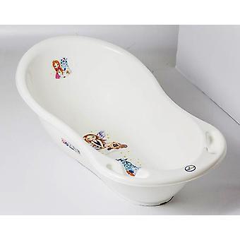 Chipolino Baby Bath Marea prinsessa valkoinen, 102 cm, lämpö mittari, säilytys lokerot
