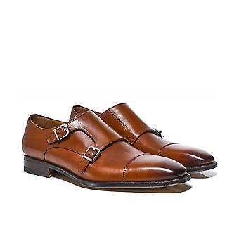 Stemar Leather Genova Monk Strap Shoes