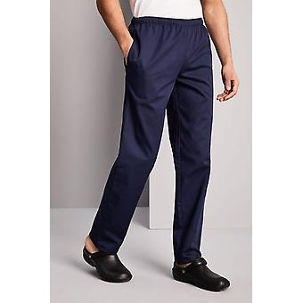 SIMON JERSEY Unisex Drawstring Chef's Trousers, Navy
