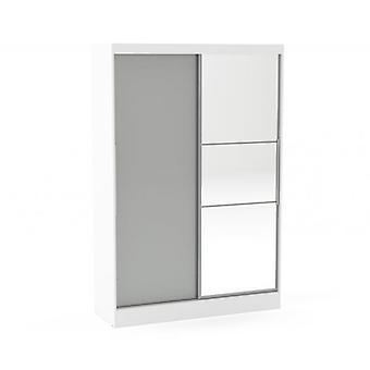 Lynx 2 Porta Deslizando Robe Mirror Branco e Cinza