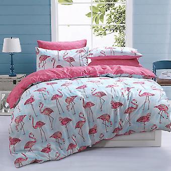 Flamingo Stripe Bedding Set