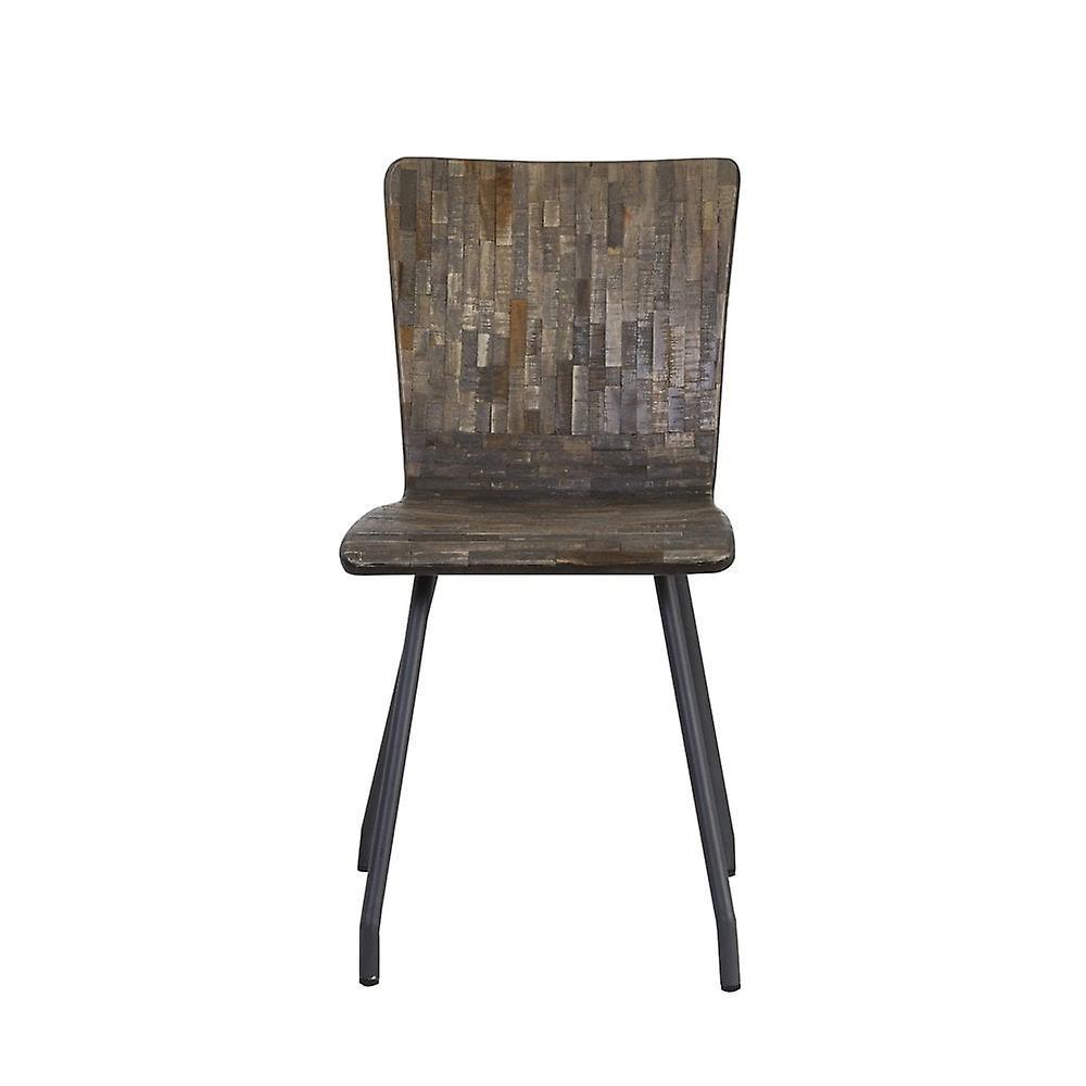 Chaise légère et vivante 41x45x88cm Flores Wood-Grey