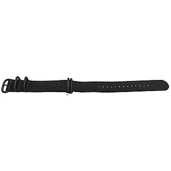 N.a.t.o zulu g10 style watch strap black 5 ring with black buckle 20mm,22mm
