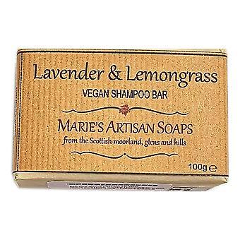 Artesanal de Marie jabones hechos a mano barra de champú vegano 100g - lavanda y limoncillo