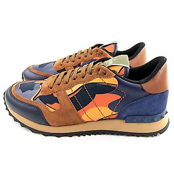Valentino Camouflage Rockrunner Sneaker Navy LX8