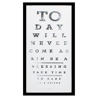 """13"""" X 25"""" Silver Frame Eye Chart I"""