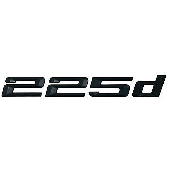 Matt Black BMW 225d Car Badge Emblem Model Numbers Letters For 2 Series F22 F45 F46