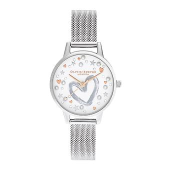 Olivia Burton Watches Ob16lh12 You Have My Heart Rose Gold & Silver Mesh Ladies Watch