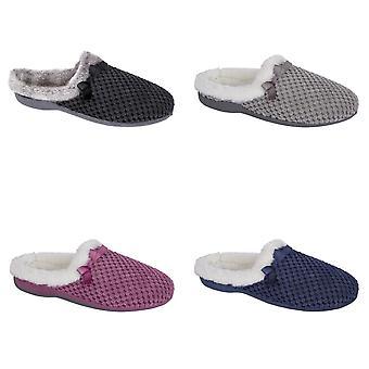 Zedzzz Womens/Ladies Kerri Velour Geometric Fluffy Slippers