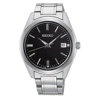 Seiko Uhren Sur311p1 Schwarz & Silber Edelstahl Herren's Uhr