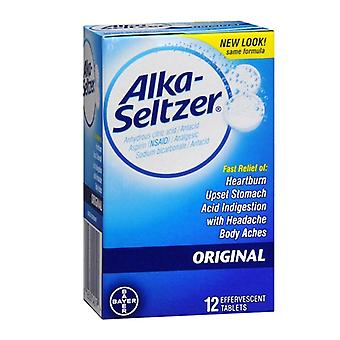 Alka-seltzer antacid & analgesic effervescent tablets, original, 12 ea