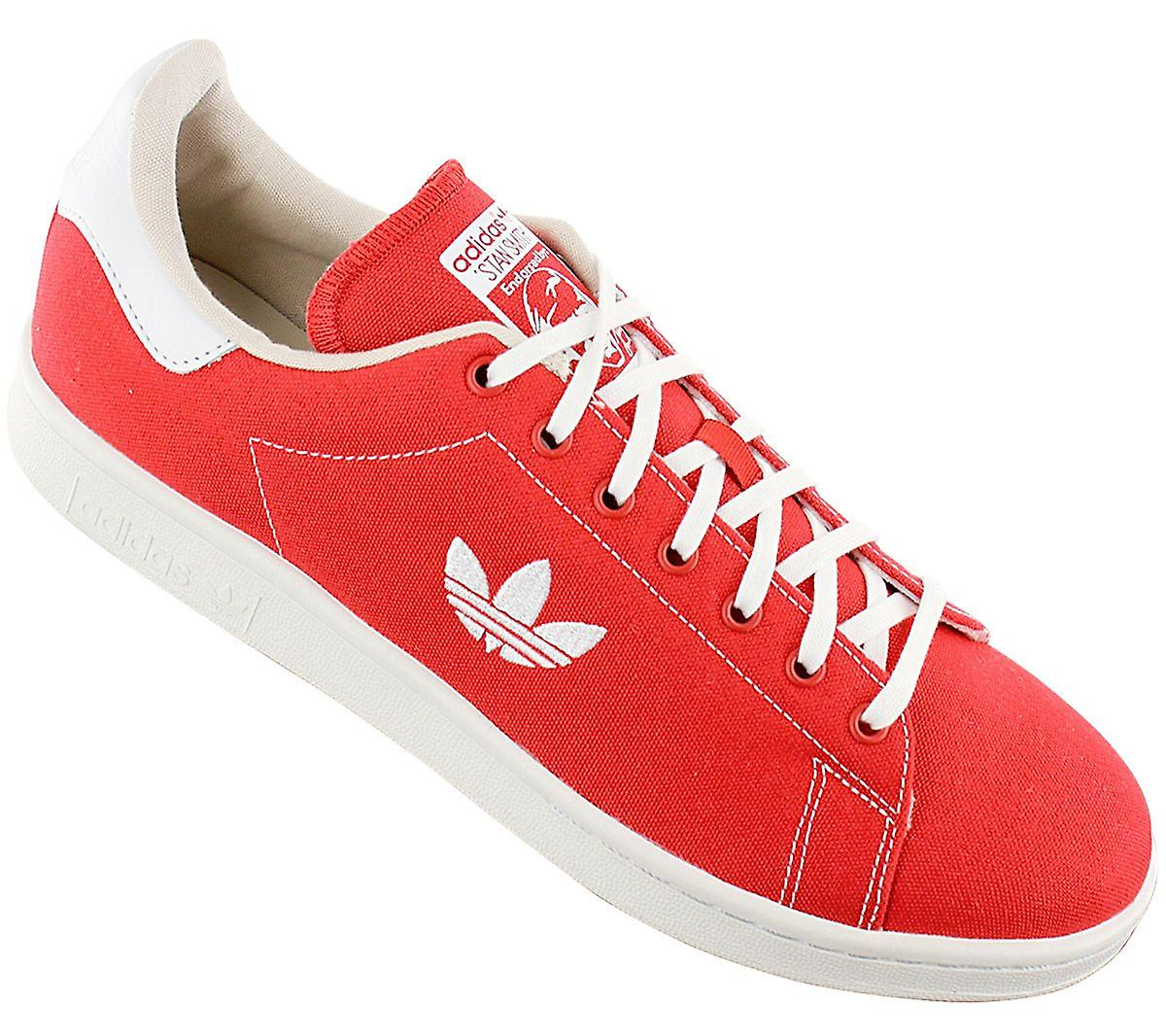 Adidas Originals Stan Smith - Herren Schuhe Canvas Rot B37894 Sneakers Sportschuhe