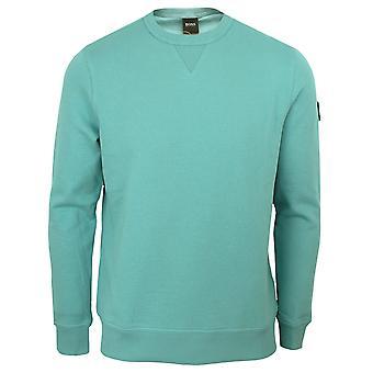 Hugo boss men's walkup 1 turquoise sweatshirt