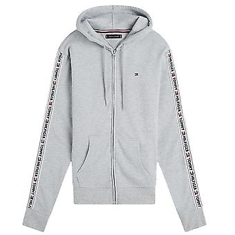 Tommy Hilfiger Logo Tape Hoodie HWK, hell heather grau, X-Large