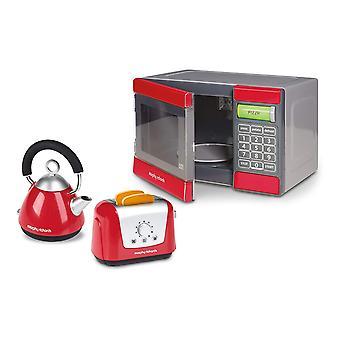 Casdon plc Morphy Richards microondas/chaleira e torradeira brinquedo (vermelho/cinza)