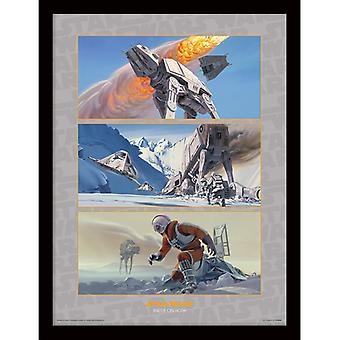 Star Wars Battle hoth kehystetty levy 30 * 40cm