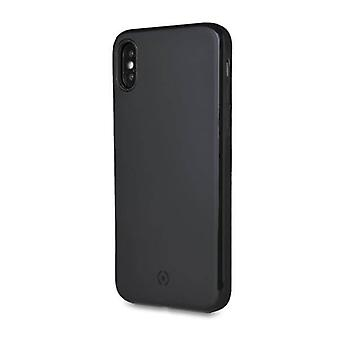 Celly Magnetic Ghost Backcover Hoesje iPhone XS Max - Zwart