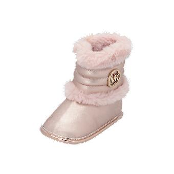 Michael Kors ZIA-BABY BEE Kids Girls Boots Gold Lace-Up Boots Winter