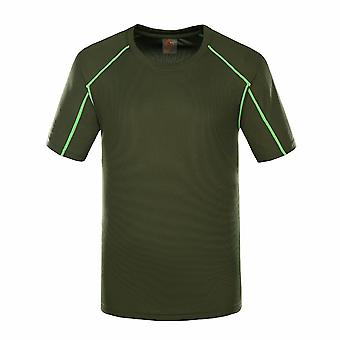 Allthemen Men's Round Neck Straight Stretch Short-Sleeved T-Shirt