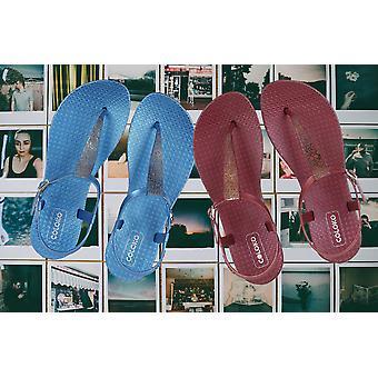 Coloko Salvia Ergonomic Footbed T-Bar Sandals