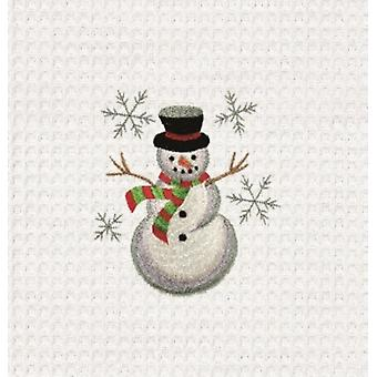 Wintry Fun Jolly Snowman Cotton Kitchen Towel