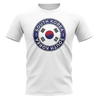 韓国 サッカーバッジ Tシャツ (白)