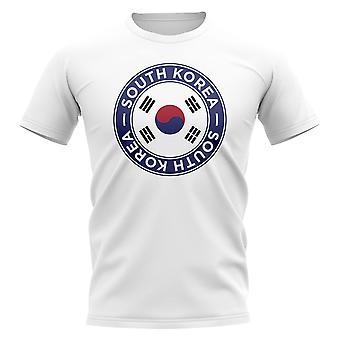 Sydkorea Football Badge T-shirt (Vit)