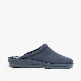 Rohde 2291 Ladies Slip On Mule Slippers Ocean Blue