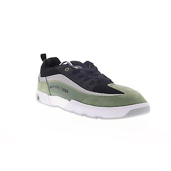 DC Legacy 98 Slim SE  Mens Green Suede Lace Up Skate Sneakers Shoes