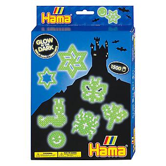 Glow in the Dark Hama Bead Set - Boxed Gift