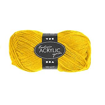 50g 3-Ply Yellow Acrylic Yarn for Kids Knitting and Sewing Crafts