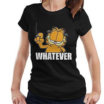 Garfield Whatever Nail Wall Scratch Women's T-Shirt