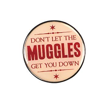 Harry Potter Badge Enamel Dont let the muggles get you down new Official