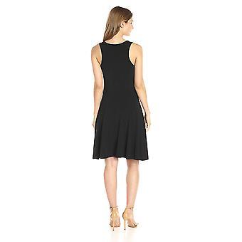 Lark & Ro Women's Sleeveless Knit Dress, Zwart, Medium