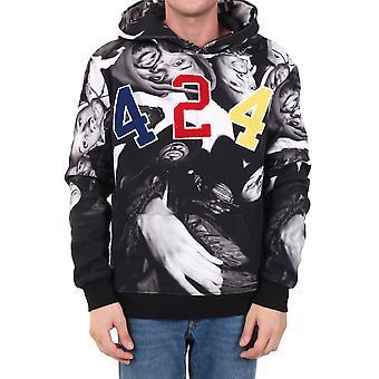 424 8012115j846 Men's Black Cotton Sweatshirt