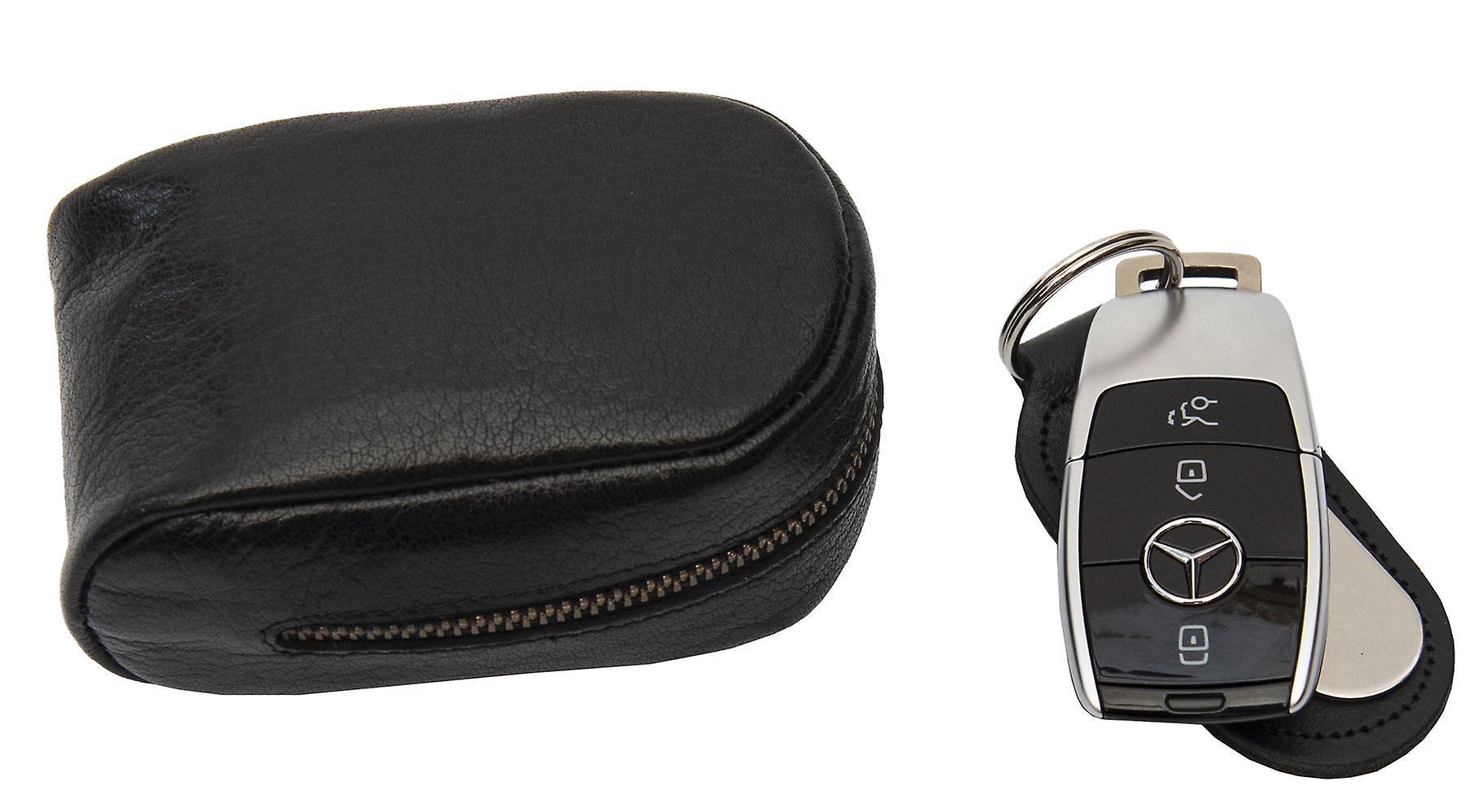 RFID Blocking Secure Zip Round Key Protector Primehide Premium Leather Key Pouch Key Wallet 4824