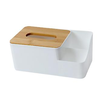 23.5x13x9.5cm Bamboo and Wood Tissue Box