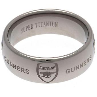 Arsenal FC Super Titanium Ring